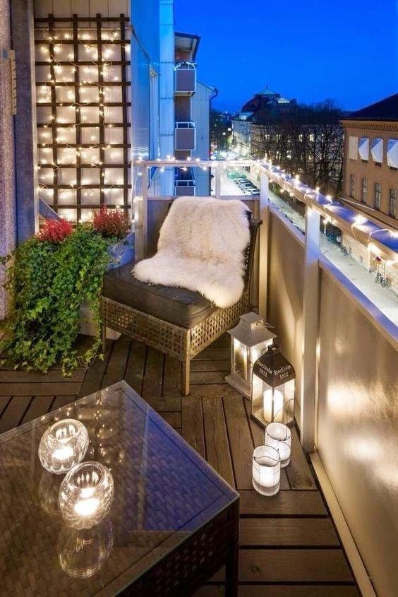 Fajnie Oświetlony Balkon Może Być Miejscem Magicznym A Na