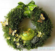 Miętowo Biały Wianek Wielkanocny Marideko Srebrna A Na Stylowipl