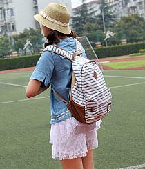 Dodaj do swojej kolekcji Edytuj Lubię to Ustaw jako okładkę kolekcji  Komentuj. Otwórz. Summer Striped Leisure Canvas Backpack ... 3a1667e00a7b6
