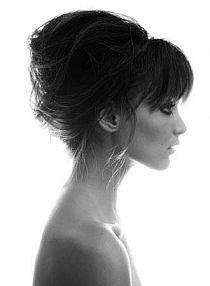 Fryzury Koki Blackandwhite Z Profilu Kobieta Na Stylowipl
