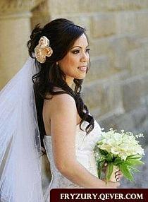 Fryzury ślubne Z żywymi Kwiatami Fryzury ślubne 2014 Na