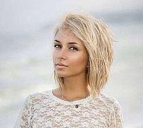 Fryzury Półdługie Blond Bob Lob Z Grzywką Por Na