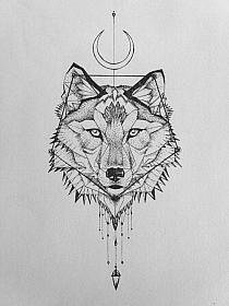Rysunek Wilka Na Udzie Wzory Tatuaży Na Stylowipl