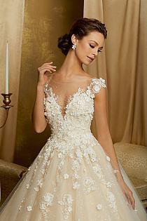 Model 51344 Suknia ślubna Z Błyszczącym Gorsetem Od M Na Stylowipl