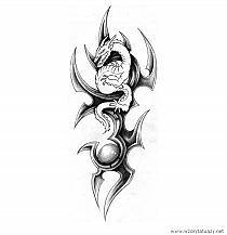 Chiński Czarny Smok Taki Wzór Tatuażu Myślę Wybrać Na R Na