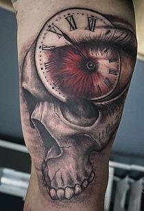 Czaszka Zegar Tatuaż Na Ręce Na Stylowipl