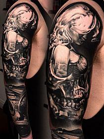 Dziewczyna Czaszka Tatuaże Iluzje Na Stylowipl