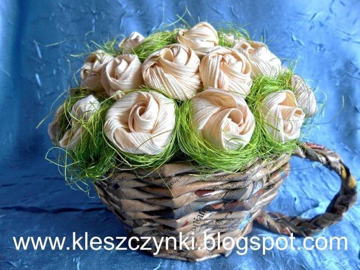 Kwiaty Z Lisci Kukurydzy Na Stylowi Pl