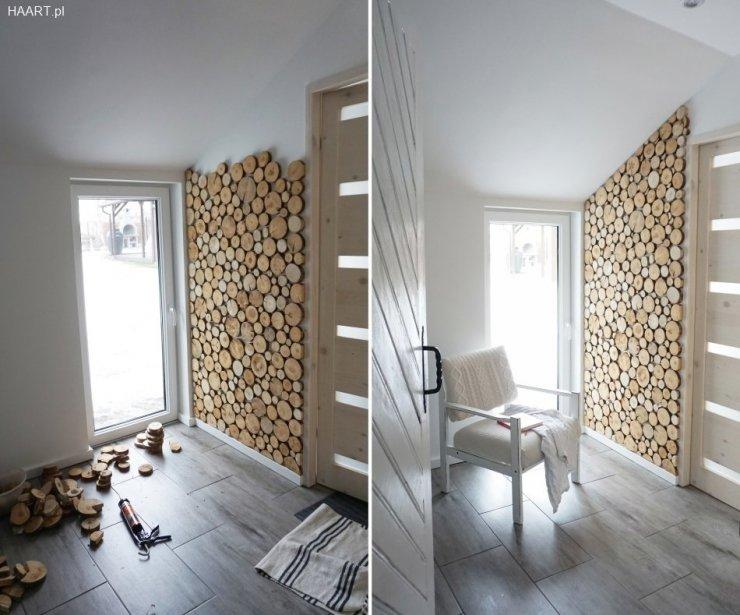plastry drewna przyklejone na cianie diy zr b to sa na. Black Bedroom Furniture Sets. Home Design Ideas