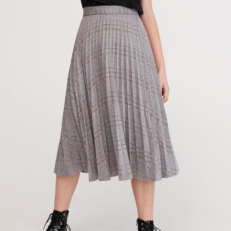 Reserved Plisowana spódnica w kratę Wielobarwny Pli… na
