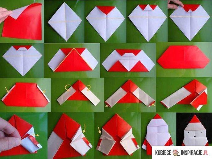 Mikołaj z origami