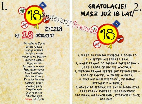 Książka Na Alkohol Kieliszki Wiersz Urodziny 18 50 41 Na