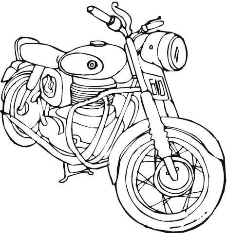 Kolorowanka Motocykl Kolorowanki Dla Dzieci Do Druku Na Stylowi Pl