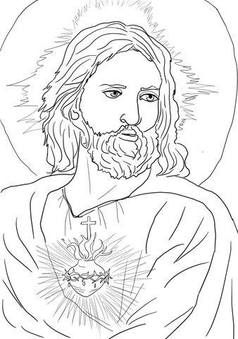 Kolorowanka Najswietsze Serce Pana Jezusa Kolorowanki Na Stylowi Pl