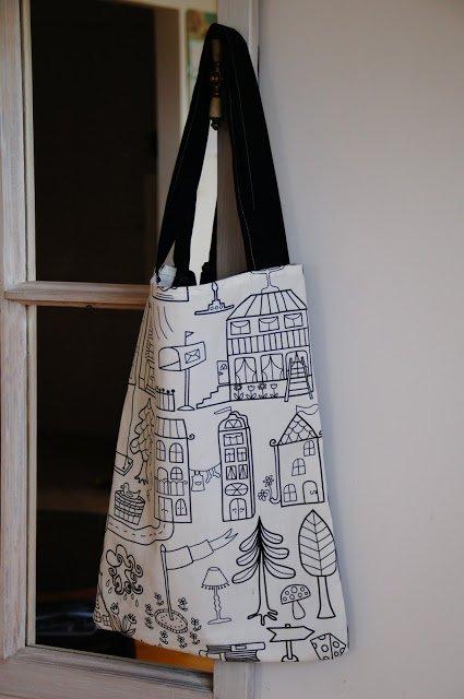 jak uszyć torbę zakupową tote bag DIY tanasza na Stylowi.pl