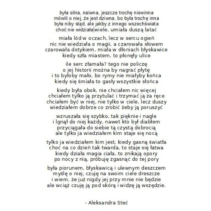 Wiersz Aleksandry Steć Z Książki Wrażliwość Rzecz Na